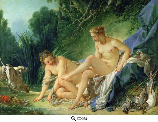 Francois Boucher, Diana Bathing oil painting reproduction
