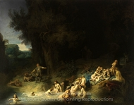 Diana Bathing with Her Nymphs painting reproduction, Rembrandt Van Rijn