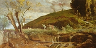 Diana Hunting painting reproduction, Arnold Bocklin