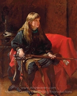 Did You Ever Kill Anybody Father? painting reproduction, Frank Holl