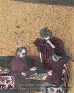 Die Damepartie painting reproduction, Edouard Vuillard