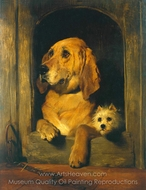 Dignity and Impudence painting reproduction, Sir Edwin Landseer
