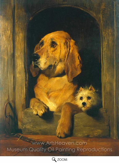 Sir Edwin Landseer, Dignity and Impudence oil painting reproduction