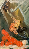 Dindon et Tomates painting reproduction, Chaim Soutine