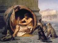 Diogenes painting reproduction, Jean-Leon Gerome