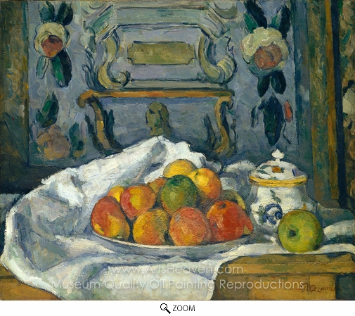Paul Cézanne, Dish of Apples oil painting reproduction