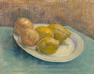 Dish with Citrus Fruit painting reproduction, Vincent Van Gogh