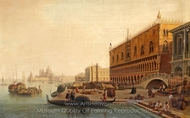 Doge's Palace painting reproduction, Gustaf Wilhelm Palm