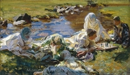 Dolce Far Niente painting reproduction, John Singer Sargent
