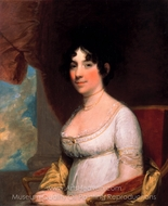 Dolley Payne Madison (Mrs. James Madison) painting reproduction, Gilbert Stuart
