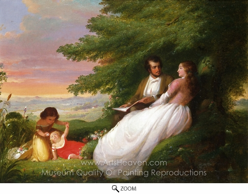William E. Winner, Domestic Felicity oil painting reproduction