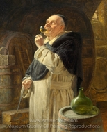 Dominicans at the Wine Tasting painting reproduction, Eduard Von Grutzner