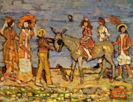 Donkey Rider painting reproduction, Maurice Prendergast