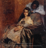 Dorothy and Her Sister painting reproduction, William Merritt Chase