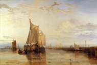 Dort the Dort Packet Boat from Rotterdam Becalmed painting reproduction, Joseph M. W. Turner