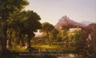 Dream of Arcadia painting reproduction, Thomas Cole