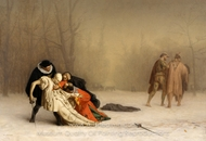 Duel After the Masked Ball painting reproduction, Jean-Leon Gerome