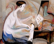 Dukas Etude painting reproduction, Alice Bailly