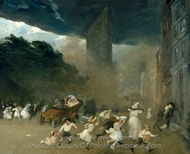 Dust Storm, Fifth Avenue painting reproduction, John French Sloan