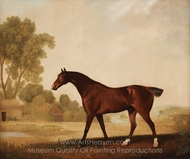 Eagle, a Bay Racehorse painting reproduction, George Stubbs