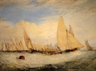 East Cowes Castle, the Seat of J. Nash Esq. painting reproduction, Joseph M. W. Turner