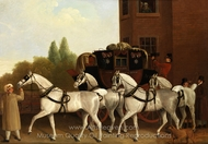 Edinburgh and London Royal Mail painting reproduction, Jacques Laurent Agasse