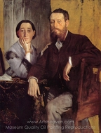Edmond and Therese Morbilli painting reproduction, Edgar Degas
