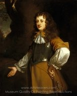 Edward Montagu, First Earl of Sandwich painting reproduction, Sir Peter Lely