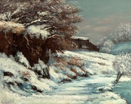 Effect of Snow painting reproduction, Gustave Courbet