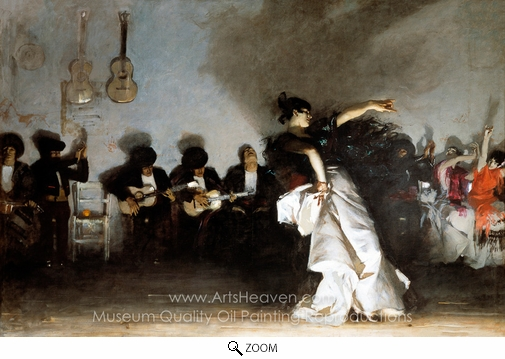 John Singer Sargent, El Jaleo oil painting reproduction