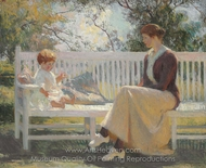 Eleanor and Benny painting reproduction, Frank Weston Benson