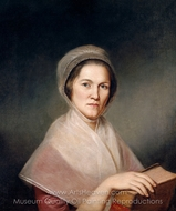 Eleanor Miller (Mrs. Francis Bailey) painting reproduction, Charles Willson Peale