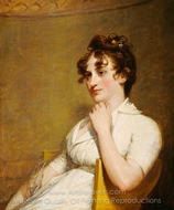 Eleanor Parke Custis Lewis (Mrs. Lawrence Lewis) painting reproduction, Gilbert Stuart