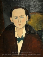 Elena Pavlowski painting reproduction, Amedeo Modigliani