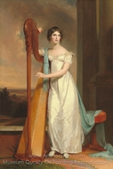 Eliza Ridgely with a Harp painting reproduction, Thomas Sully