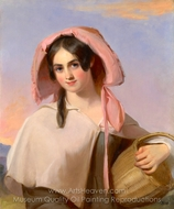 Elizabeth Cook as The Country�Girl painting reproduction, Thomas Sully
