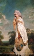 Elizabeth Farren painting reproduction, Sir Thomas Lawrence