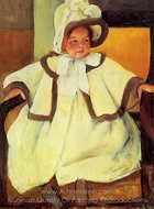 Ellen Mary Cassatt in a White Coat painting reproduction, Mary Cassatt