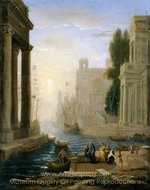 Embarkation of St. Paula painting reproduction, Claude Lorraine