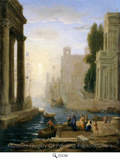 Claude Lorraine, Embarkation of St. Paula oil painting reproduction