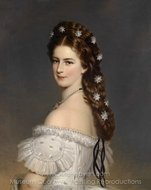 Empress Elisabeth of Austria in State Robes painting reproduction, Franz Xavier Winterhalter