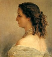Empress Eugenie painting reproduction, Franz Xavier Winterhalter