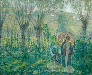 En Promenade painting reproduction, Frederick Carl Frieseke