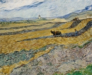Enclosed Field with Ploughman painting reproduction, Vincent Van Gogh