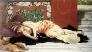 Endymion painting reproduction, John William Godward