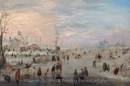 Enjoying the Ice painting reproduction, Hendrick Avercamp