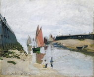 Entre du port de Trouville painting reproduction, Claude Monet