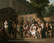 Entrance to the Jardin Turc painting reproduction, Louis Leopold Boilly
