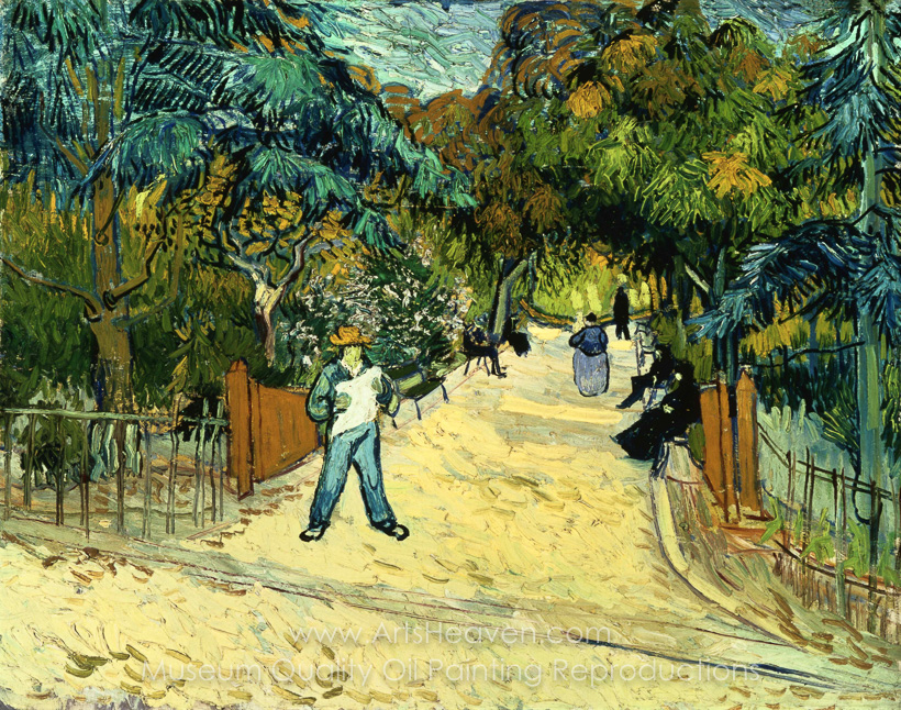Etonnant Vincent Van Gogh, Entrance To The Public Garden In Arles Oil Painting  Reproduction
