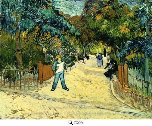 Vincent Van Gogh, Entrance to the Public Garden in Arles oil painting reproduction